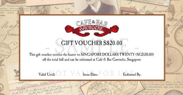 Cafe Gavroche Gift Vouchers